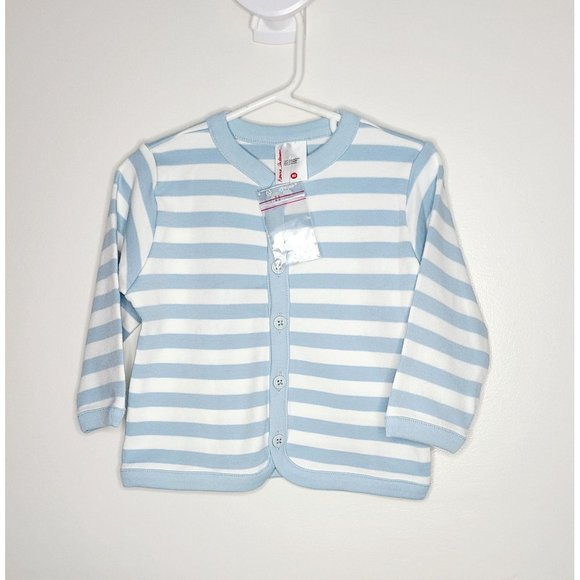 NWOT Hanna Andersson Blue and White Striped Button